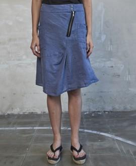 Falda lino denim