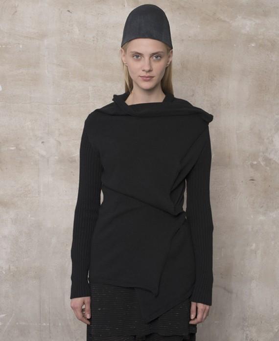 Jaqueta tricot negra