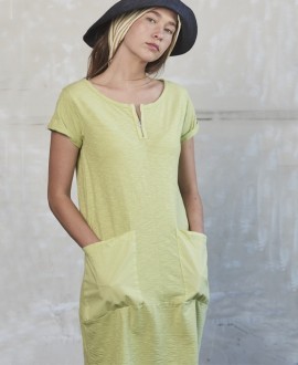 Pocket dress lime
