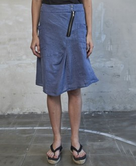 Linen skirt denim