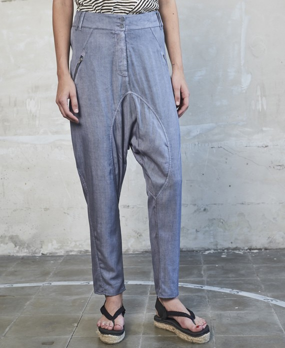 Low-rise trousers indigo