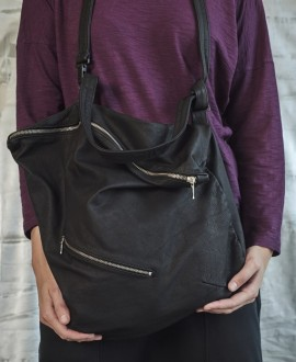 Two straps leather bag
