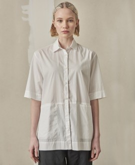 Front pockets blouse