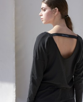Back neckline t-shirt with MIRIAM PONSA band