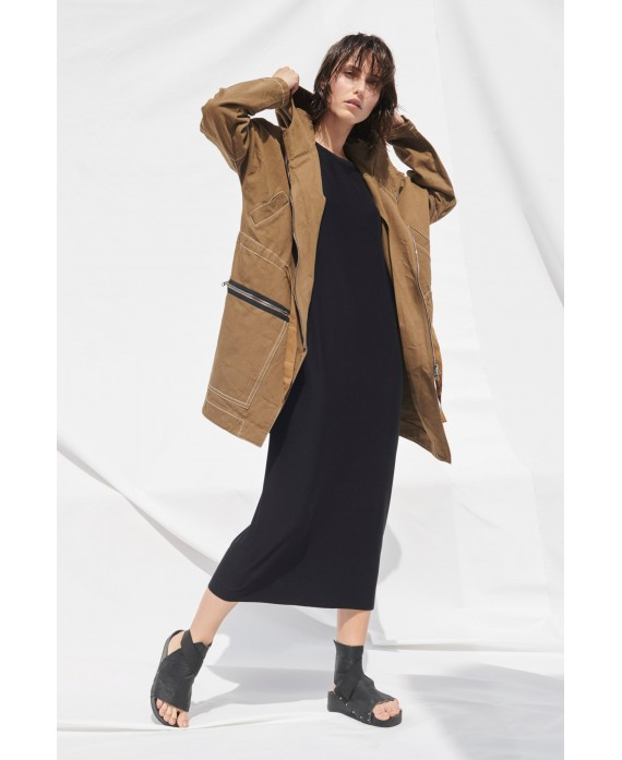 RECYCLED PARKA BROWN