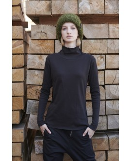 RIBBED TURTLE NECK T-SHIRT